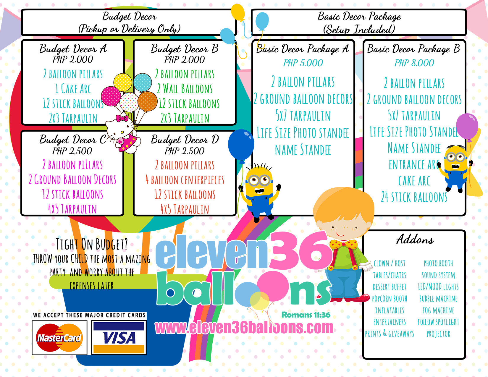 Balloon Decoration Packages Of Party Decoration Packages Eleven36 Party Events Cebu