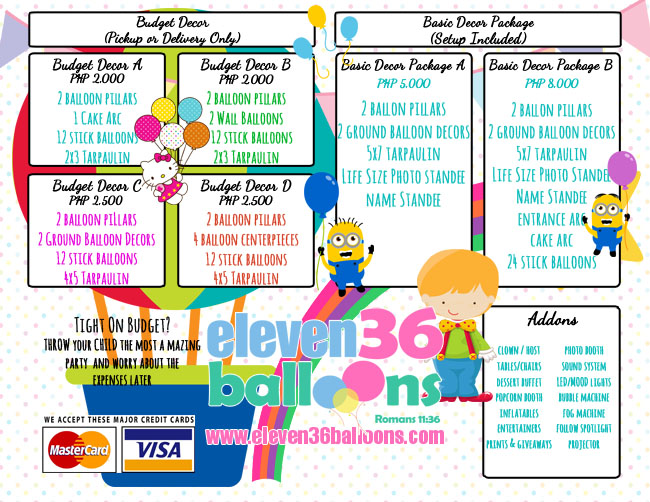 Balloon Decoration Packages - Cebu