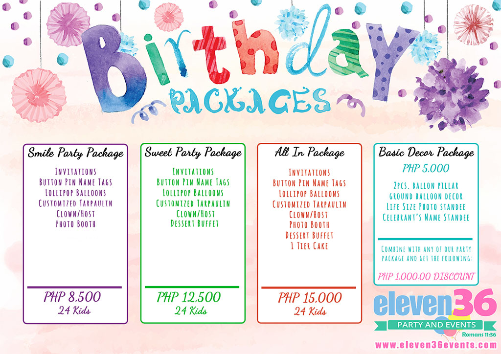 Birthday Package Eleven36 Party Amp Events Cebu