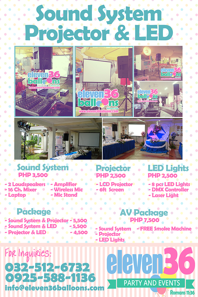 Sound System Projector Lights Rental - Cebu