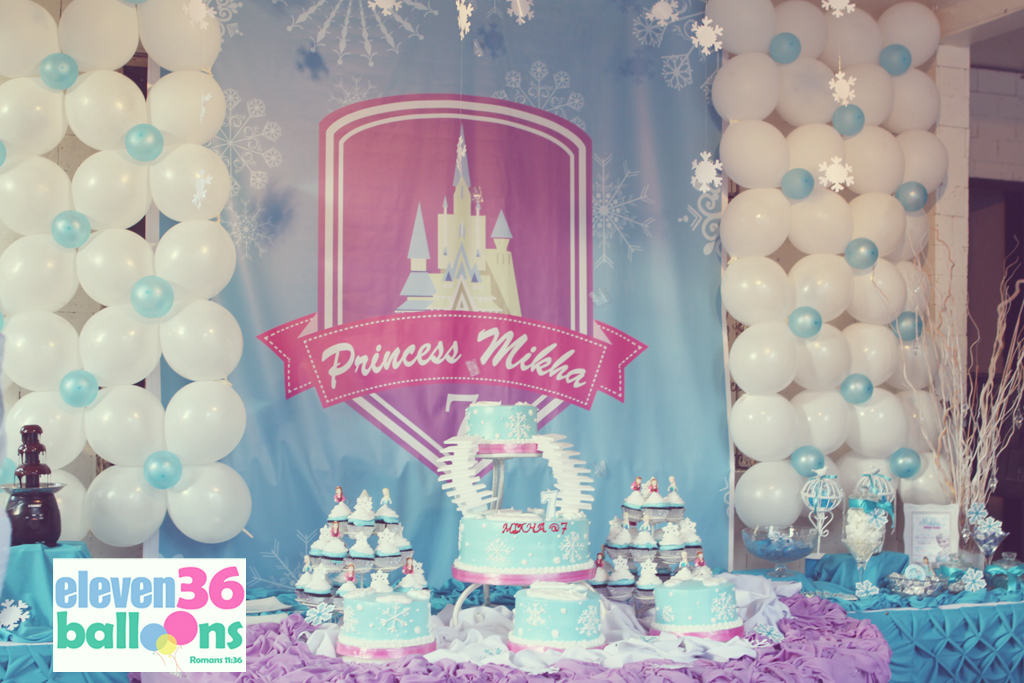 Frozen Theme Birthday Party Cebu Eleven36 Balloons10 Balloons11