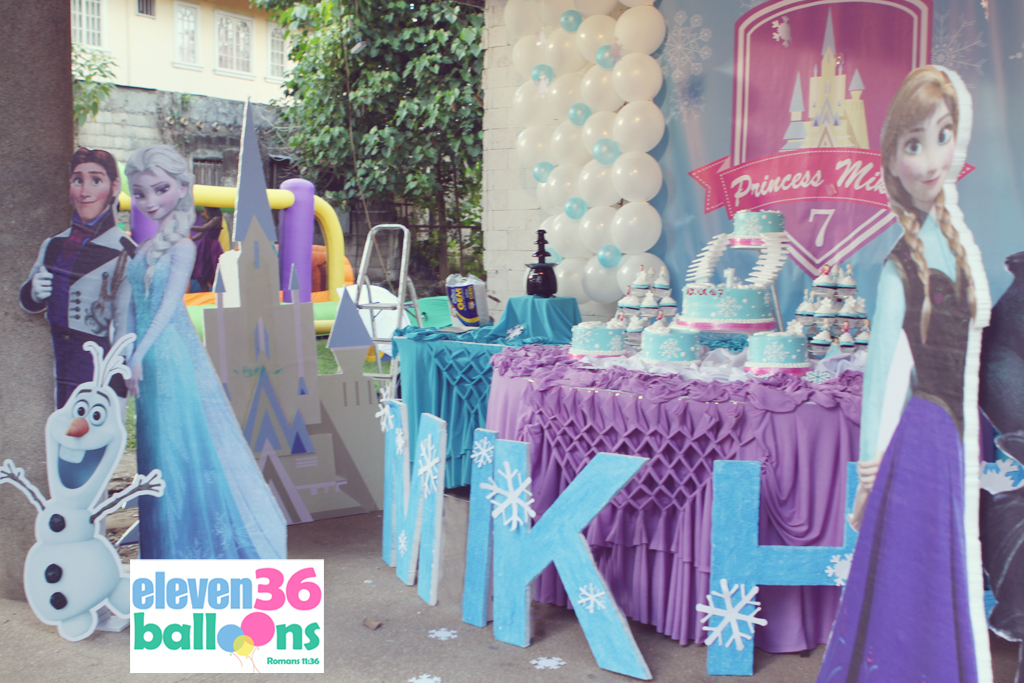 Mikhas 7th Birthday Frozen Theme Eleven36 Party Events Cebu