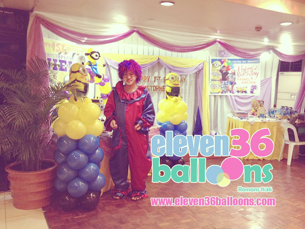 minions_theme_party_clown_balloon_decoration_eleven36_balloons_cebu