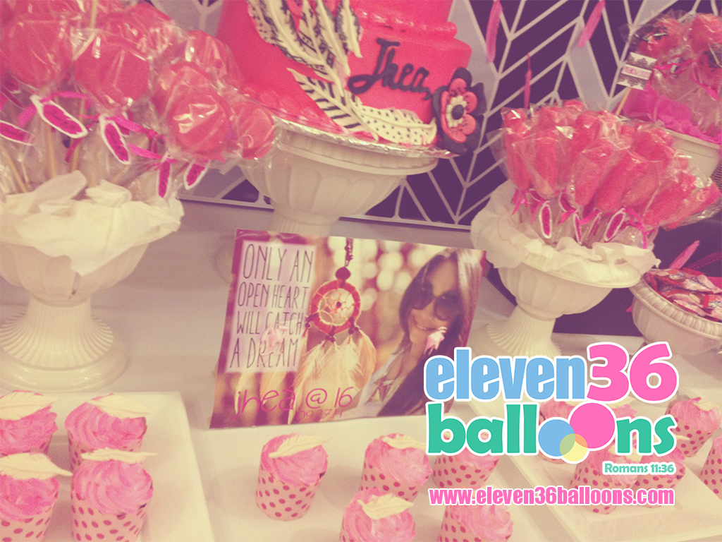 jhea_16th_birthday_coachella_theme_party_cake_dessert_buffet_eleven36_balloons_cebu