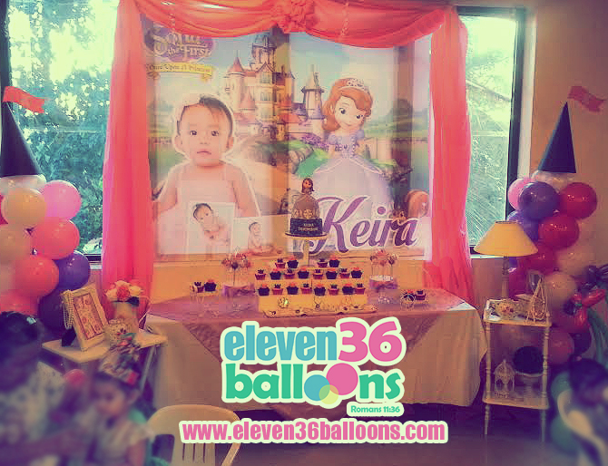 keira_1st_birthday_sofia_the_first_theme_party_balloon_decoration_eleven36_balloons_cebu