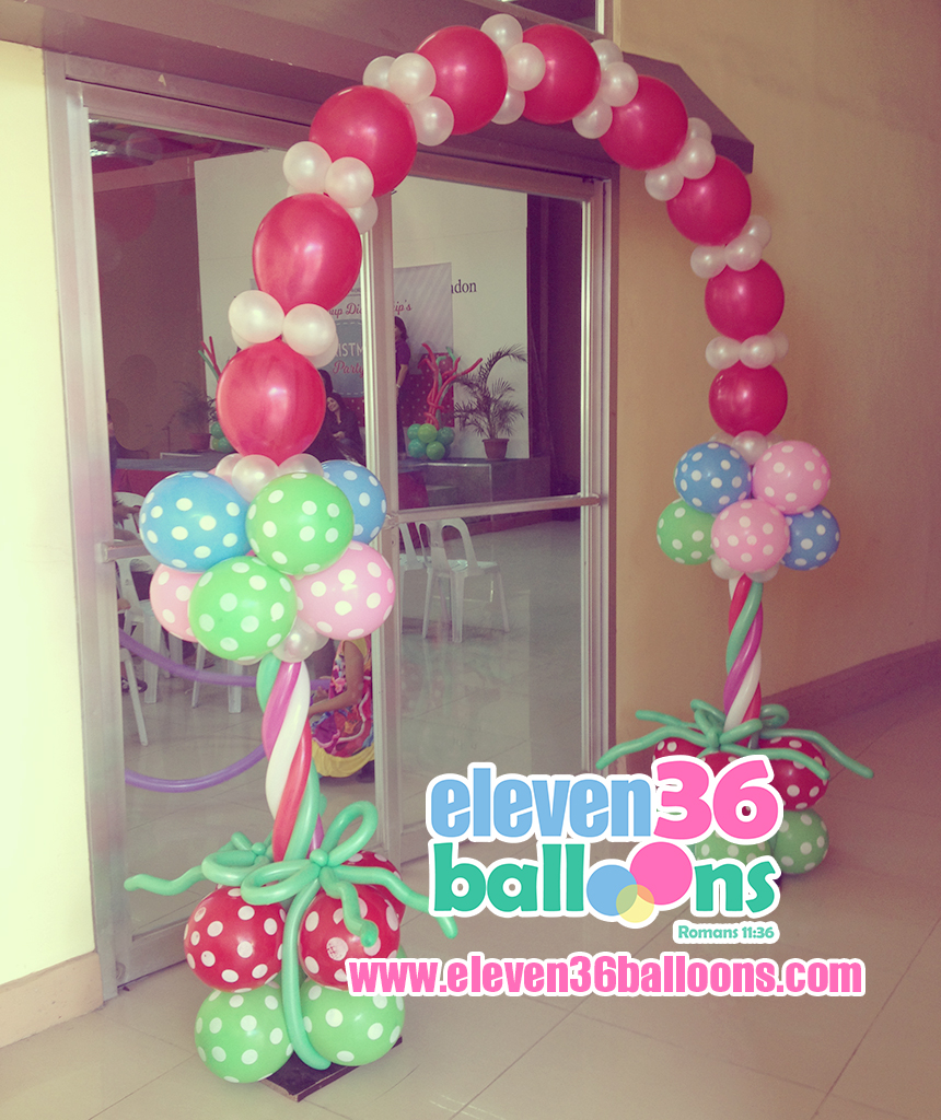 living_word_small_group_discipleship_christmas_party_entrance_arch_balloon_decor_eleven36_balloons_cebu