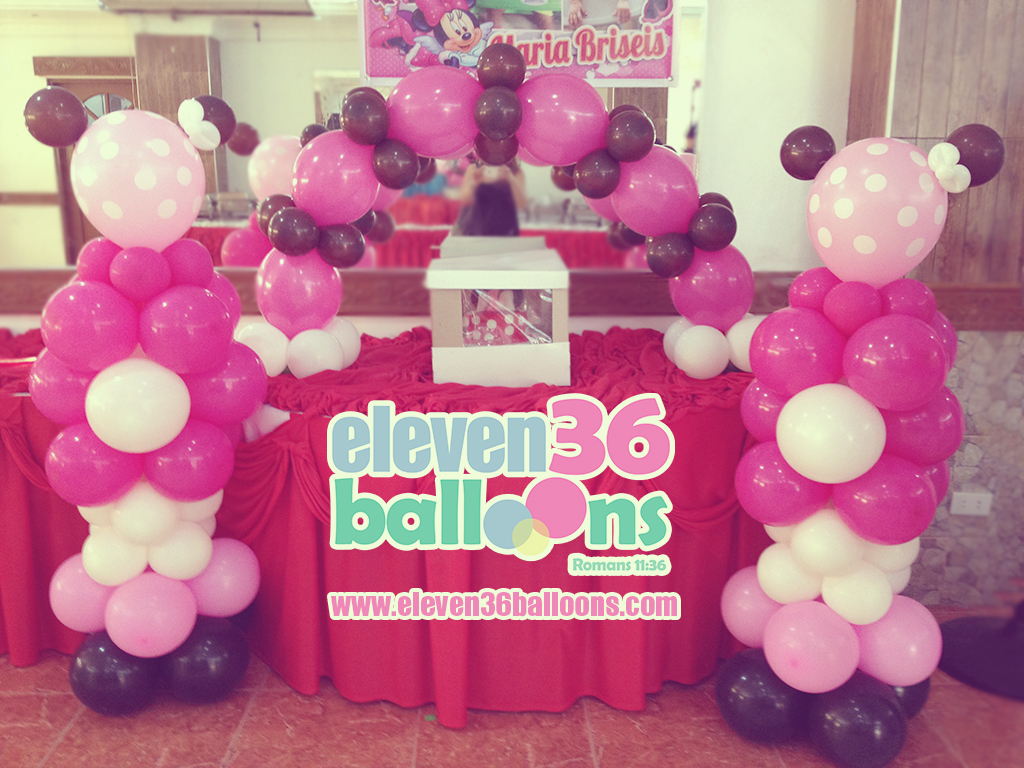briseis_1st_birthday_minnie_mouse_theme_party_cake_arch_balloon_decoration_eleven36_balloons_cebu