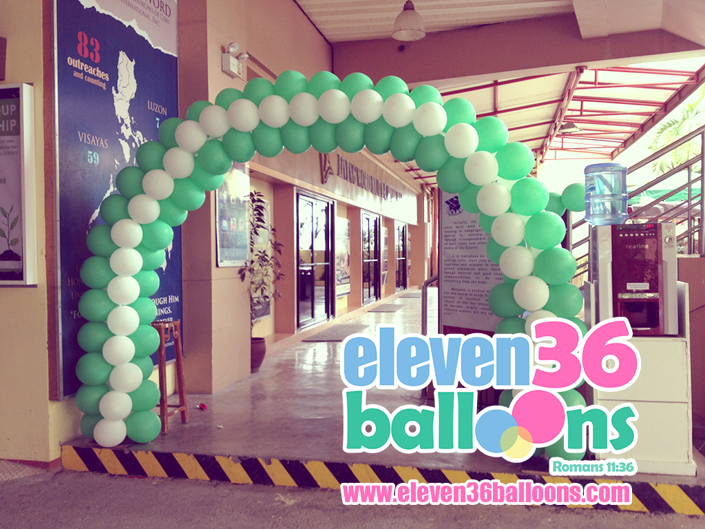 zerubbabel_project_living_word_fellowship_night_entrance_arch_balloon_decor_eleven36_balloons_cebu