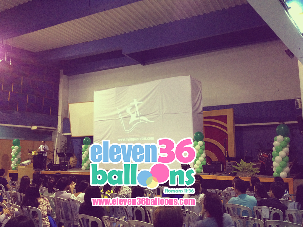 zerubbabel_project_living_word_fellowship_night_stage_balloon_decor_pillar_column_eleven36_balloons_cebu