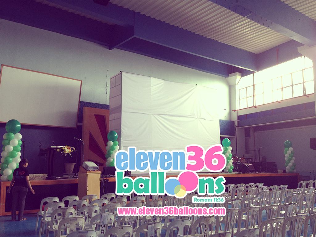 zerubbabel_project_living_word_fellowship_night_stage_balloon_pillar_column_eleven36_balloons_cebu
