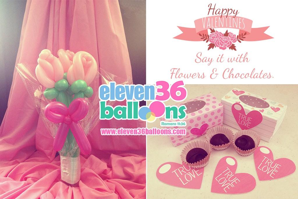 Valentines – Balloon Flower Bouquet | Eleven36 Party & Events Cebu