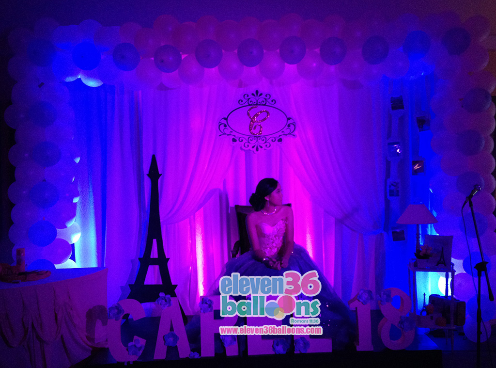 Carel 18th Birthday Travel Theme Stage Decor Eleven36 Balloons Cebu Debut Sound System Rental