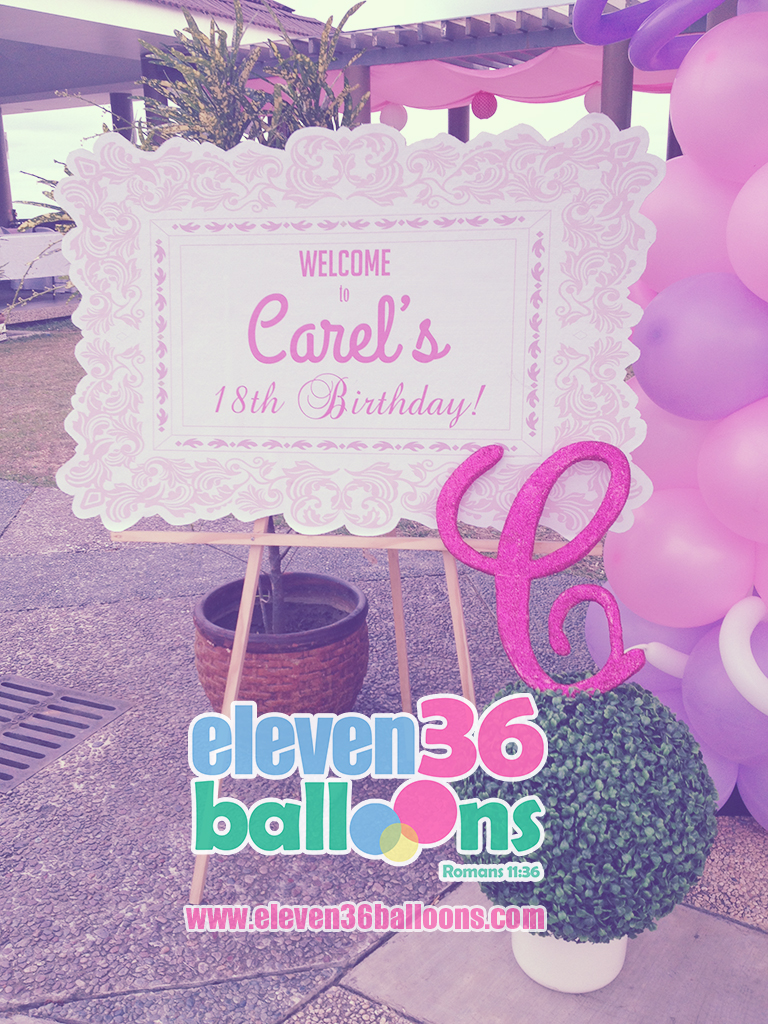 carel_18th_birthday_travel_theme_welcome_signage_eleven36_balloons_cebu