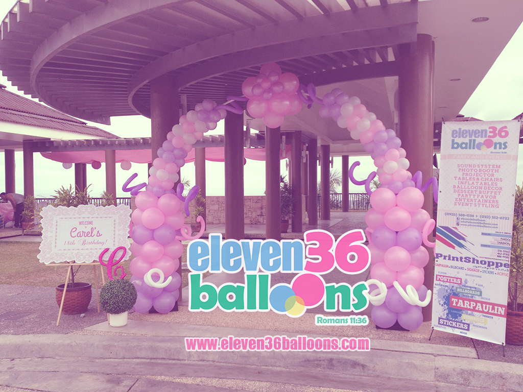 carel_debut_birthday_travel_theme_balloon_entrance_arch_eleven36_balloons_cebu