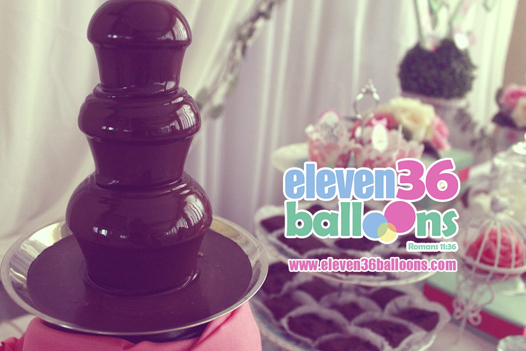 christonette_chris_wedding_mint_green_pink_theme_party_chocolate_fountain_rental_eleven36balloons_cebu